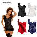 Women Body Shaper Costumes Chest Binder Waist Shaper Corset Flower Sexy Waist Corset Top Waist Trainer