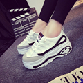 2016 Mujeres Del Otoño Del Resorte de Las Mujeres Coreanas Trifle Zapatos de Plataforma Alta Zapatos de Aumento de la Altura Zapatillas Deportivas Entrenador