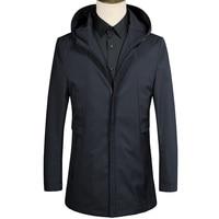 2018 Autumn Overcoat Mens Classic business trench Coats men's high quality Jacket Men Casual Coat Mens windbreaker size M 3XL