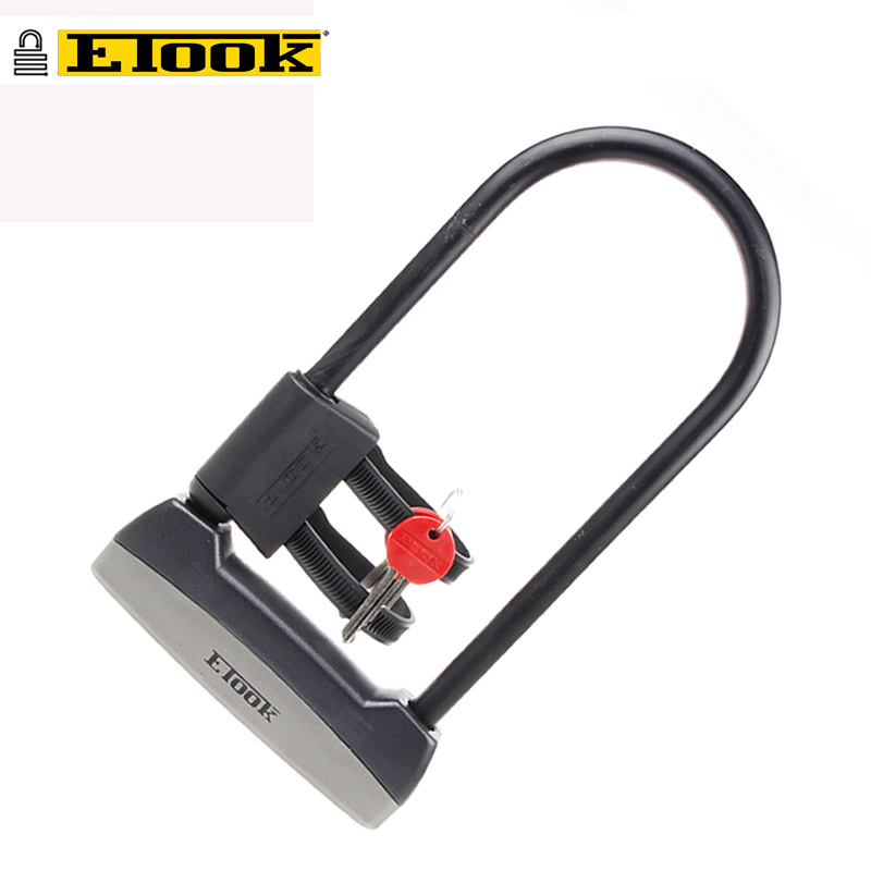 ETOOK Bicycle Bike U-lock Anti-theft Steel Motorcycle Gates Fences Safety Lock 2 Keys Lock Security Strong Cycling Bike Lock цена