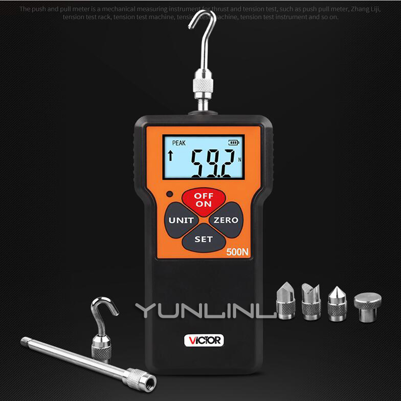 500N Digital Dynamometer Force Measuring Instruments Thrust Tester Digital Push Pull Force Gauge Tester Meter With CE VC500N500N Digital Dynamometer Force Measuring Instruments Thrust Tester Digital Push Pull Force Gauge Tester Meter With CE VC500N