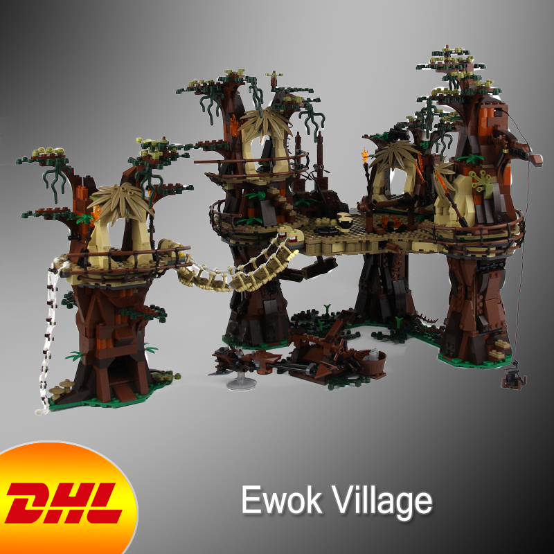 HF Star Wars Figure 1990Pcs The Ewok Village Model Building Kit Blocks Bricks Educational Toy For Children Compatible With 10236 oenux wrestlemania wrestling weightlifting gym model the wrestler athlete figure building blocks bricks toy for boy s gift