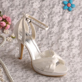 Wedopus Новый Дизайн Бежевый Сандалии Высокие Каблуки Свадебная Обувь Лето Размер 7