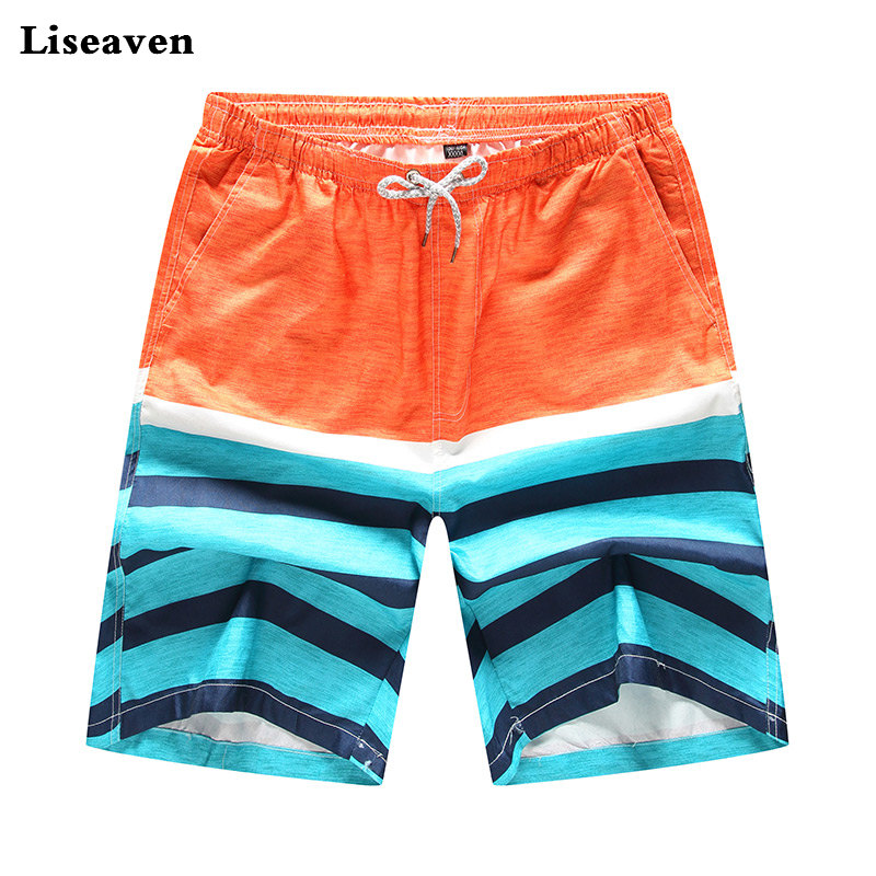Liseaven Summer Quick Dry Board Shorts BeachShorts Male Boardshort Drop Shipping Mens Clothing