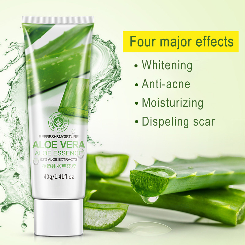 Skin Care 100% Natural Aloe Vera Gel Remove Acne Face Moisturizing Anti-sensitive Sunscreen Aloe Vera After Sun Repair Day Cream 3