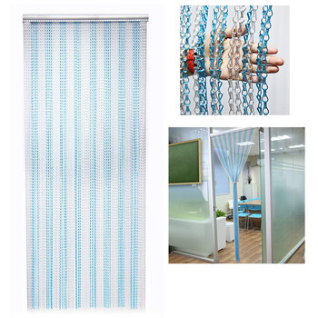 High grade double chain screen aluminium chain insect fly screen curtain