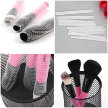 2016 New  Arrival 10 PCS Hot Selling White Make Up Cosmetic Brushes Guards Most Mesh Protectors Cover Sheath Net Without Brush