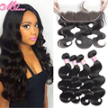 Ms Here Company Lace Frontals With Baby Hair And Bundles Cheap Full Frontal Lace Front Closures Brazilian Body Wave Hair