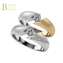 BOAKO Rings for women wedding engagement ring crystal cubic zircon womens party gift B5