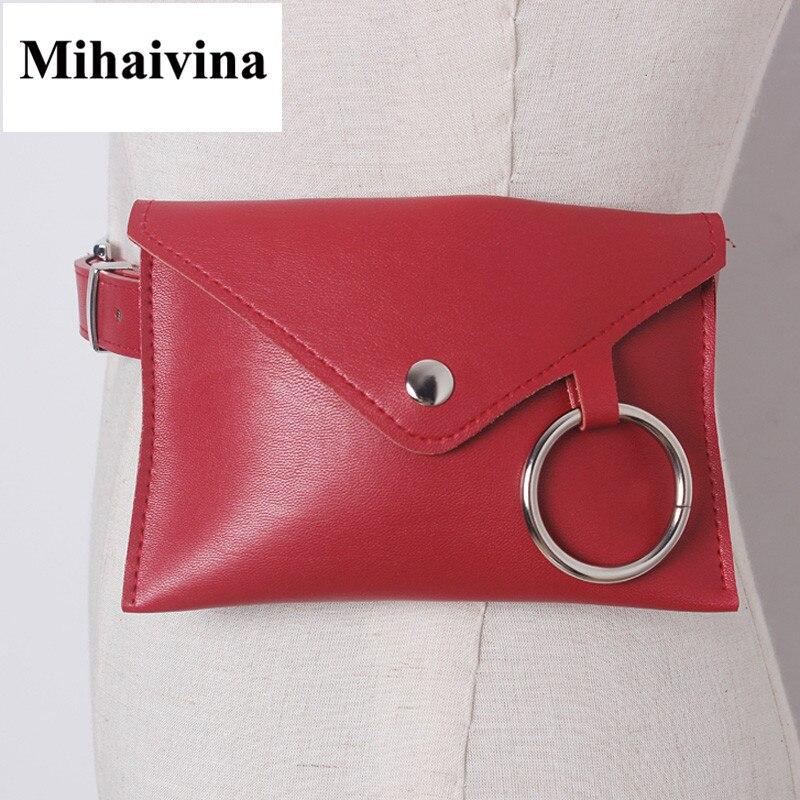 Mihaivina Fashion New Women Waist Pack Femal Belt Bag Phone Pouch Bag Women Waist Bags Fur Fanny Pack Handbag On The Belt Bolosa