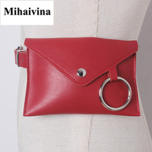 Mihaivina Fashion New Women Waist Pack Femal Belt Bag Phone Pouch Bag Women Waist Bags Fur Fanny Pack Handbag On The Belt Bolosa