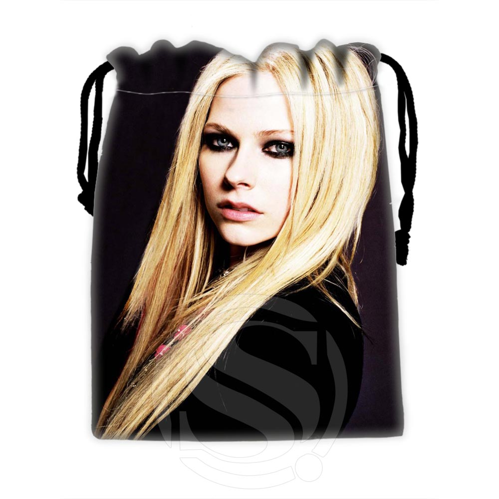 H-P639 Custom Avril #9 Drawstring Bags For Mobile Phone Tablet PC Packaging Gift Bags18X22cm SQ00806#H0639