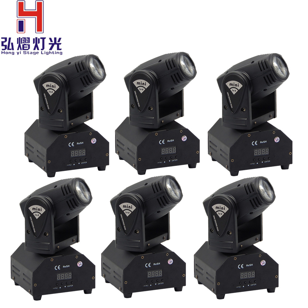 (6pieces/lot)Mini beem 10w moving head Beam RGBW CREE LED moving head dj party light 4pcs lot 10w led mini moving head beam light 4 in 1 rgbw led moving head for party lights led dj lights