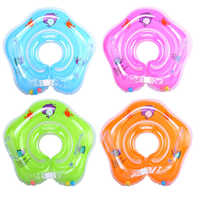 0-3 Years Baby Swimming Ring Neck Tube Ring Safety Infant Neck Float Circle For Baby Swimming Pool Bathing Inflatable