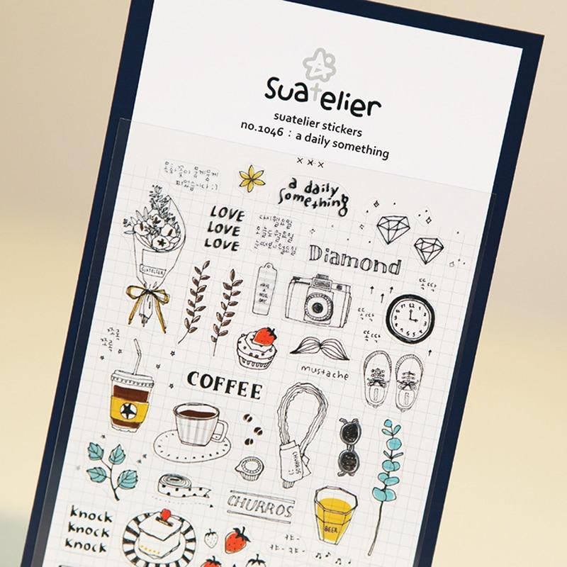 1 X SONIA Daily Life Paper Sticker DIY Decorative Sticker For Album Scrapbooking Kawaii Stationery Diary Sticker