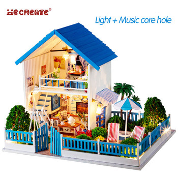 DIY Miniature Doll House 3D Wooden Dolls Houses Puzzle Furniture Toys for children Miniature dollhouse Furniture Kit