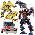 GUDI Movie Series 8711~8713 Bumblebee Building Blocks Figures Model Kids Toys Robot 2 In 1 Vehicle Car Compatible major blocks