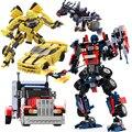 GUDI Série Filme 8711 ~ 8713 Modelo Bumblebee Figuras Blocos de construção Crianças Brinquedos Robô 2 Em 1 Car Veículos Compatíveis grandes blocos