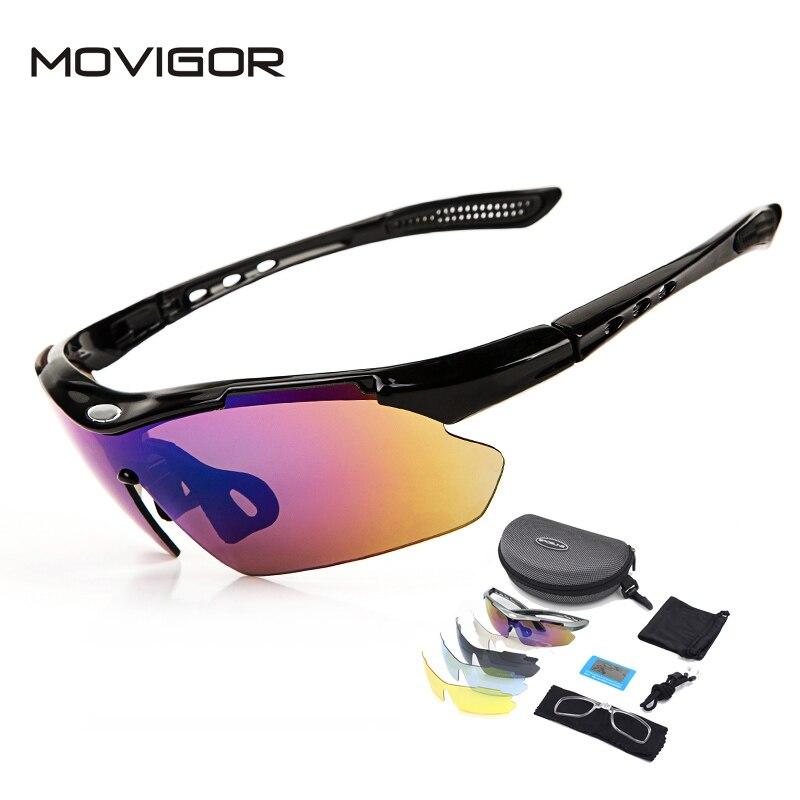 Prix pour MOVIGOR 5 Lentilles Polarisées Vélo Lunettes avec Cadre Myopie Vélo Lunettes Vélo Lunettes Sport En Plein Air UV Protection lunettes de Soleil