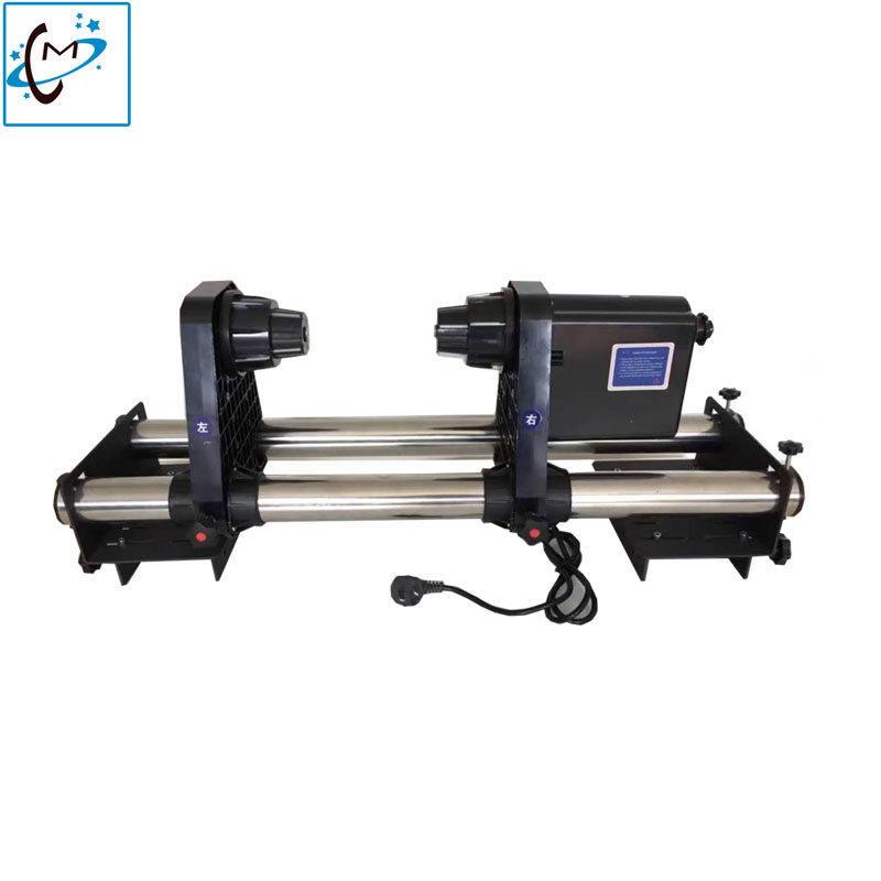 Mutoh DX5 printer take up system Auto Take up Reel System Paper Collector for Mutoh valuejet VJ1614 VJ1604 VJ1618 VJ2628 printer two engines printer take up reel system paper collector paper receiver compatible for portrait machine plotter printer