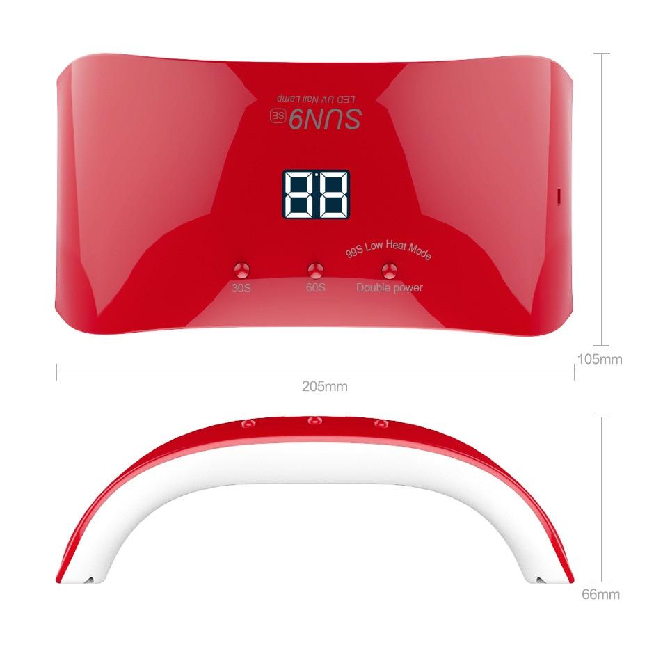 Dırnaqlar üçün üç cənub lampası 24w LCD ekran sun9se LED UV - Dırnaq sənəti - Fotoqrafiya 2