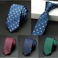 Jemygins laços dos homens nova marca de moda homem gravatas corbatas hombre Gravata Jacquard Tecido 6 cm Fino Laço do Negócio Gravata Verde Para homens
