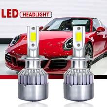 CROSSLEOPARD 12000LM/пара светодиодный лампы 60 Вт свет фар автомобиля H7 светодиодный H1 H3 H27 H11 HB3 HB4 h4 H13 9004 9007 стайлинга автомобилей лампы