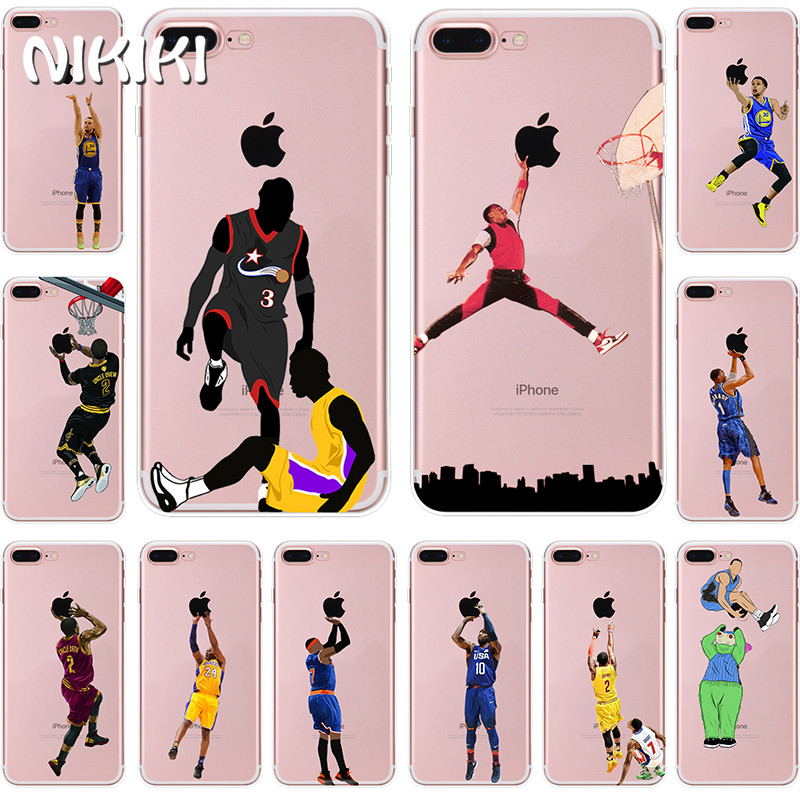 NIKIKI LeBron James Kobe Bryant Basketball Star Soft Silicon Phone Cases Cover For iphone 7 6 6s 8 Plus 5S SE X Coque Fundas