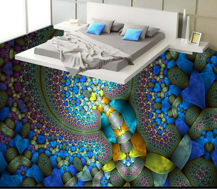Custom Creative Abstract Painting 3d Floor Art Wallpaper