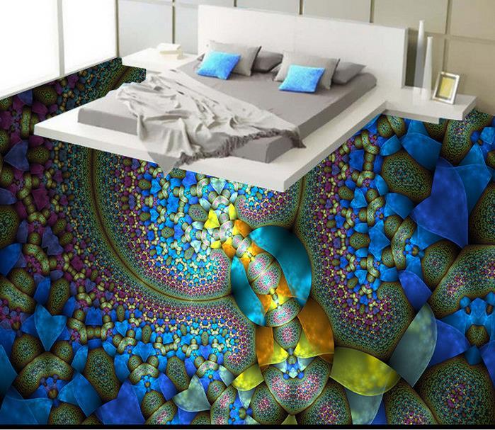 Custom Creative Abstract Painting 3d Floor Art Wallpaper