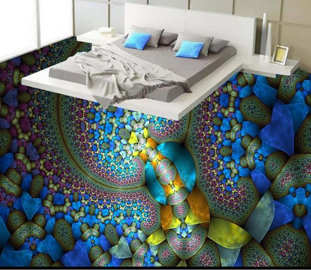 Custom Creative Abstract Painting 3d Floor Art Wallpaper For Living