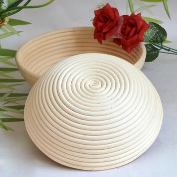 Hot 4 rozmiar okrągły w kształcie ciasto do sprawdzania Rattan Banneton Brotform chleb fermentacji kosze miska pieczenia narzędzia kuchenne tanie i dobre opinie Round Bread Basket Zaopatrzony Ekologiczne Ciasta miksery AIHOME Narzędzia do pieczenia i cukiernicze