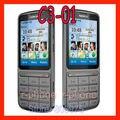 Original del teléfono nokia c3-01 mobile teclado ruso abierto c3-01 teléfono celular reparado