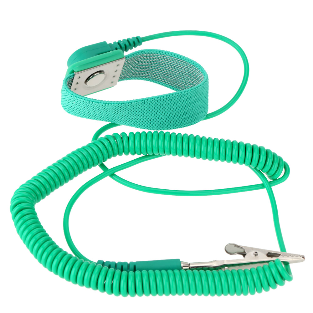 10FT Wired Anti-Static Wrist Strap for Precision Products Elastic Electrostatic Protection Wrist Strap Practical Repire Tools anti static elastic finger cots stalls yellow size l 50 pcs