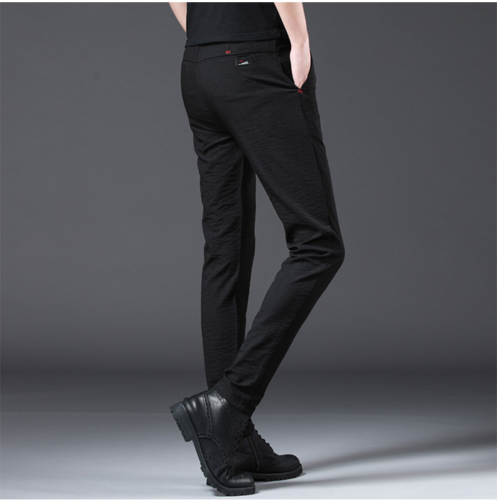 Jantour 2019 Fashion Men Pants Slim Fit Spring summer High Quality Business Flat Classic Full Length thin Casual Trousers male