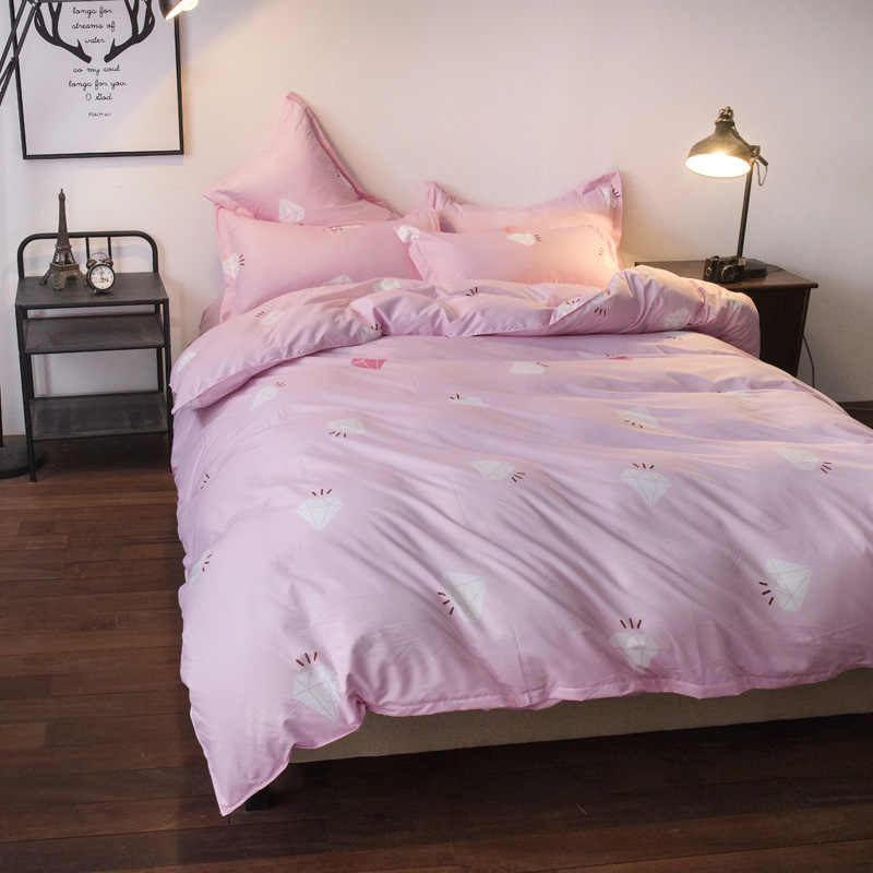 Pink Duvet Cover Bedding Set Girl Kids Bed Linen Single Full Double Queen King Size Bedspread Quilt Comforter Pillow Case24