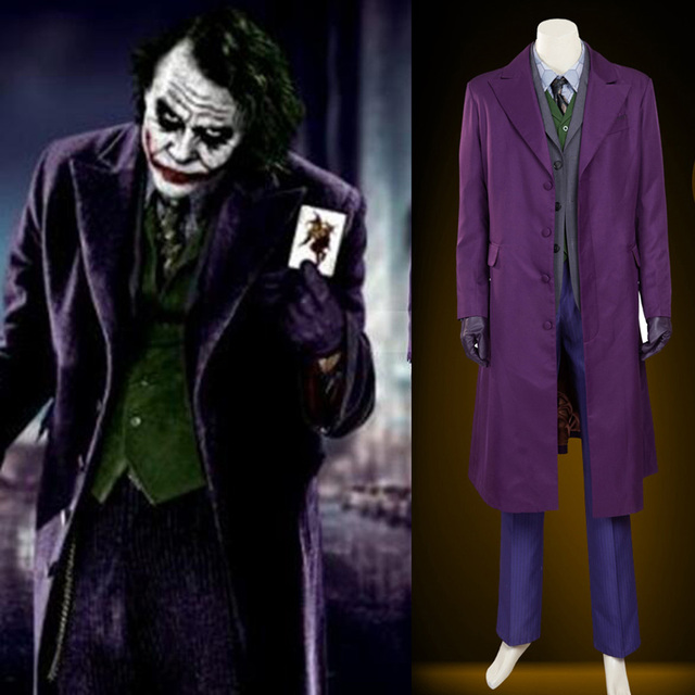 Hero Catcher Batman The Dark Knight Joker Costume Batman Joker Suit Outfits  Hallowen Cosplay Movie Hero