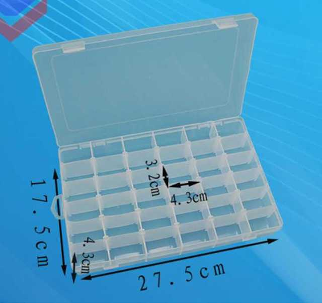 37 sensor box 36 Grid Plastic Adjustable Jewelry Organizer Box