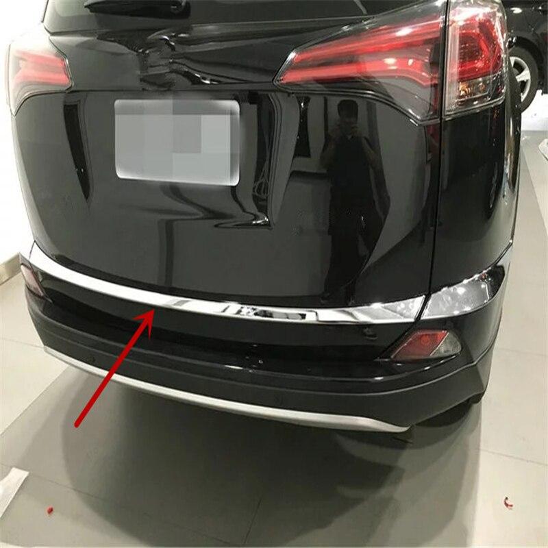 Voiture auto berline couverture style pour Toyota RAV4 2016 ABS chrome queue arrière coffre botte porte barre décorative masque autocollant moulage garniture