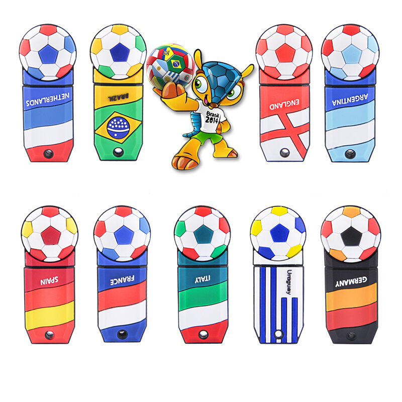 Football Usb Flash Drive Pen Drive Usb 2.0 Real Capacity Pendrive 4gb 8gb 16gb 32gb 64gb 128gb U Disk Memory Stick Free Shipping  1