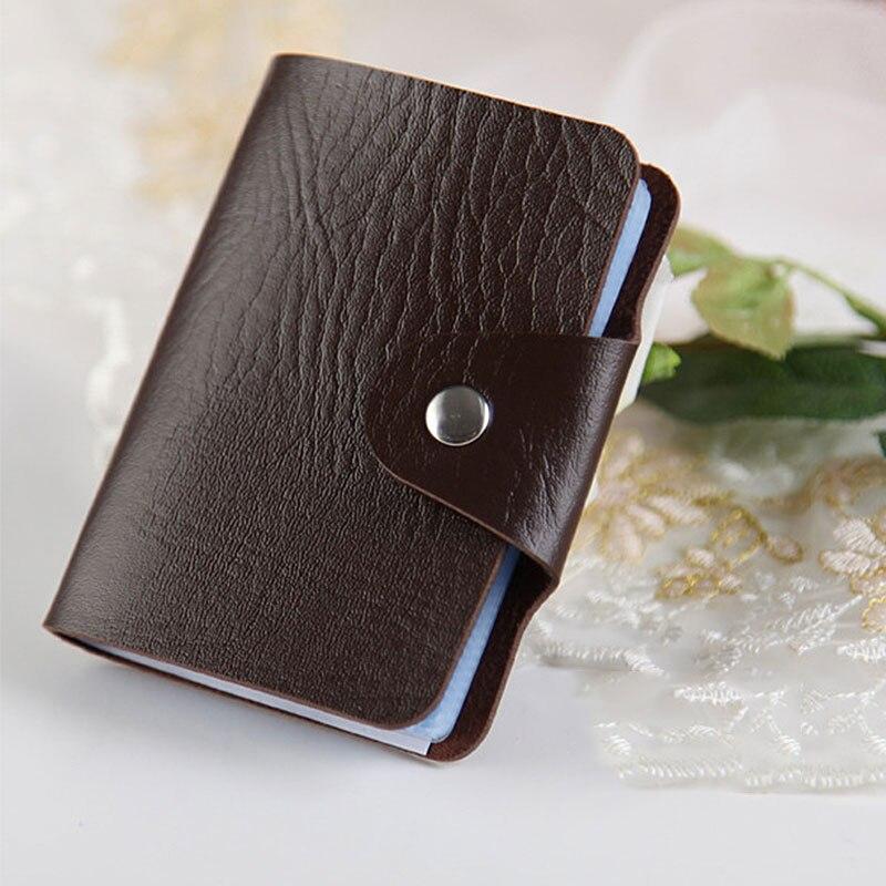 все цены на Yesello 1pcs Men's Women Leather Credit Card Holder Case Card Holder Wallet Business Card Package PU Leather Bag