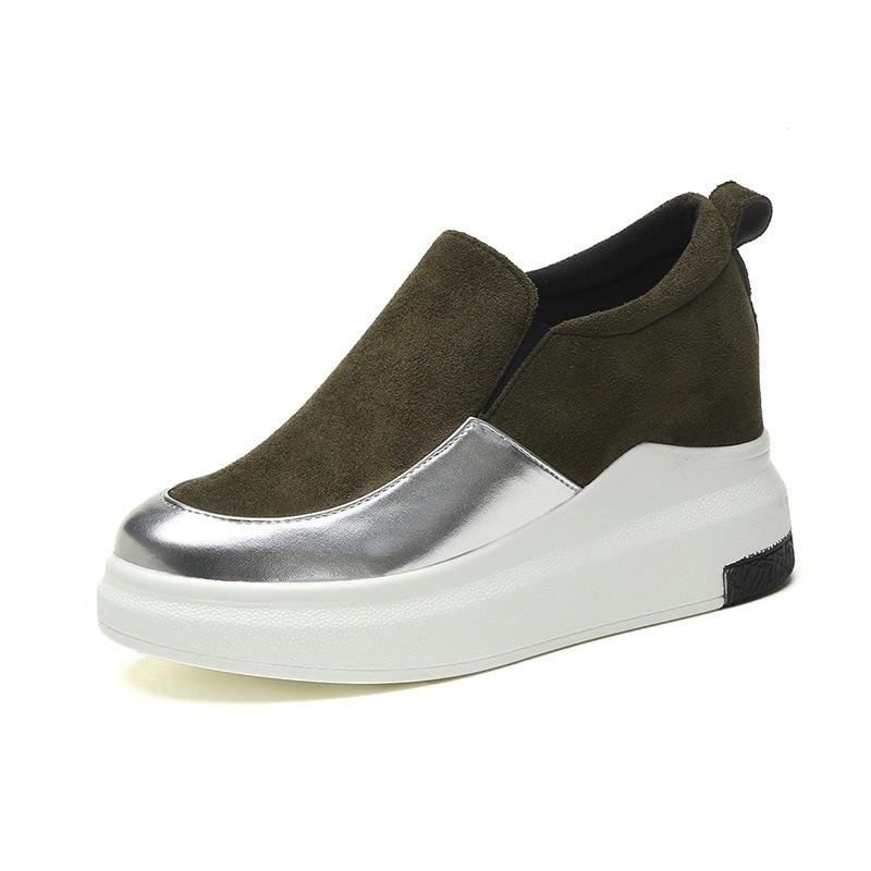 Chaussures Augmenter Noir De Femmes Modèles Nouvelles 2018 blanc Casual Chaussures D'explosion Plates vert Blanc Coréenne YqvPwTf