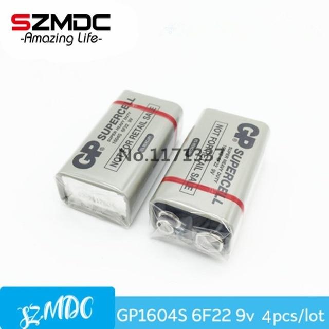 4 шт./лот 1604 г 9 В углецинковые Батарея для микрофона, mp3/MP4-плееры, электронные игрушки и других электронных устройств