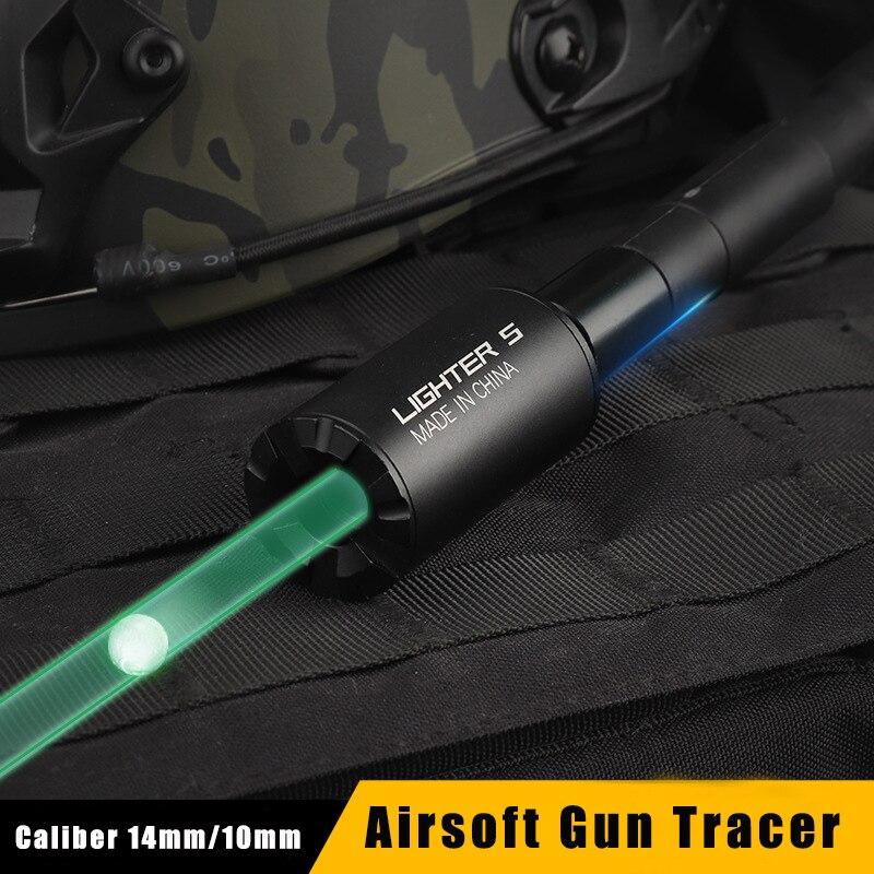 Briquet S Airsoft pistolet traceur unité lueur dans le calibre sombre 14mm/10mm fusil pistolet traceur pour Paintball CS tir traceur tactique