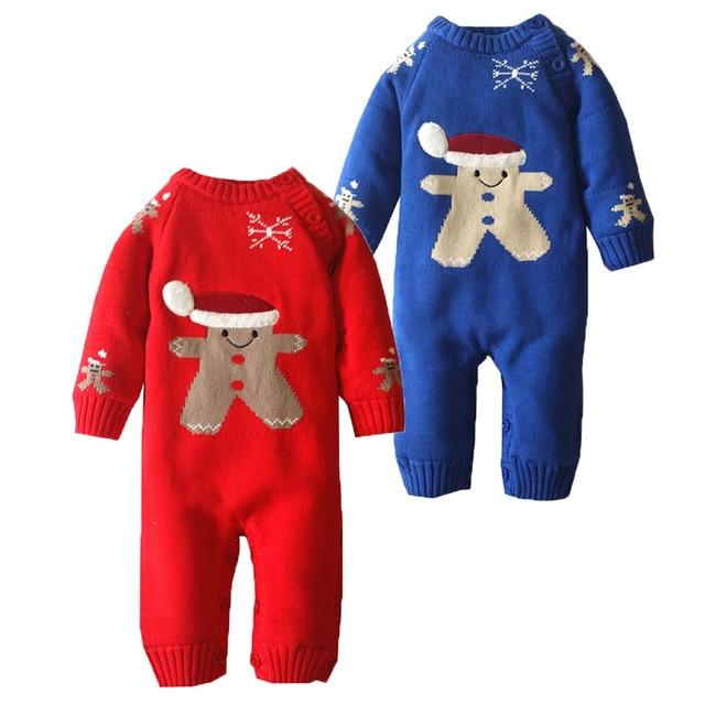 10b7ff00969d New Born Baby Boy Girl Winter Romper Snowsuit Christmas Baby Rompers ...