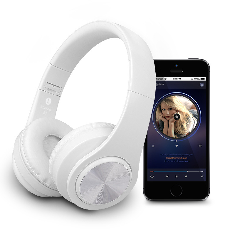 Bluetooth Headphones Wireless Stereo Headset Fone De Ouvido Headfone With Mic Support TF Card FM Radio For Mobile Phone PC