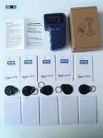 125Khz Handheld H ID Prox RFID Copier Duplicator+5x H ID Clamshell+ 5x T5577 H ID Rewritable Card+ 5x T5577 H ID Writable Key