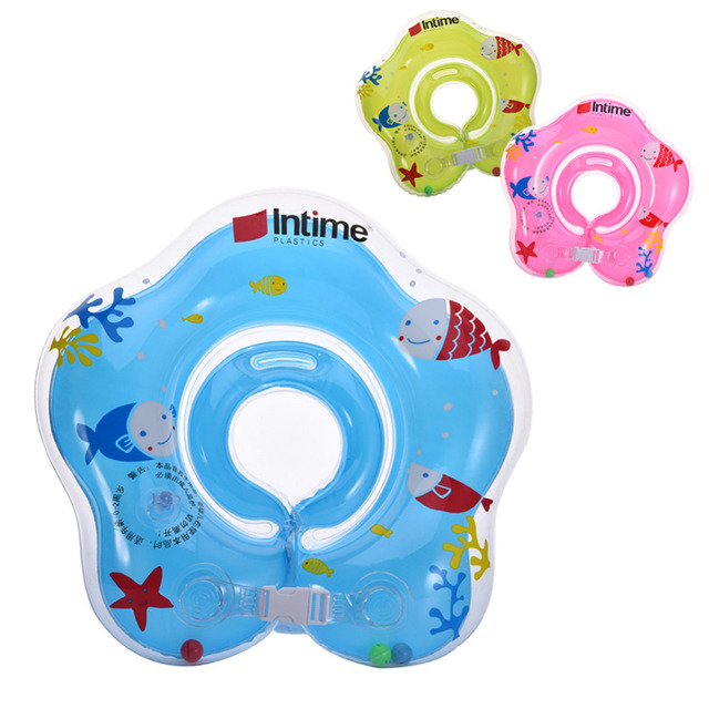 New Inflatable Ring Double Independent Airbag Structure Inflatable Wheels Circle Swimming Ring Neck Ring For Baby Swimming