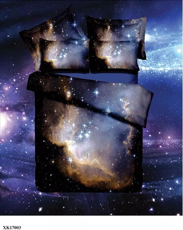 Hot 3d Galaxy bedding sets Twin/Queen Size Universe Outer Space Themed Bedspread 2/3/4pcs Bed Linen Bed Sheets Duvet Cover Set 51