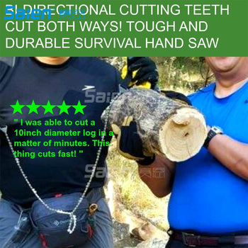 Survival Pocket Chain Saw Chainsaw 24 Inches Portable Hand Saw For Camping Hiking Backpacking Hunting Boy-scouts Emergency Gear 6
